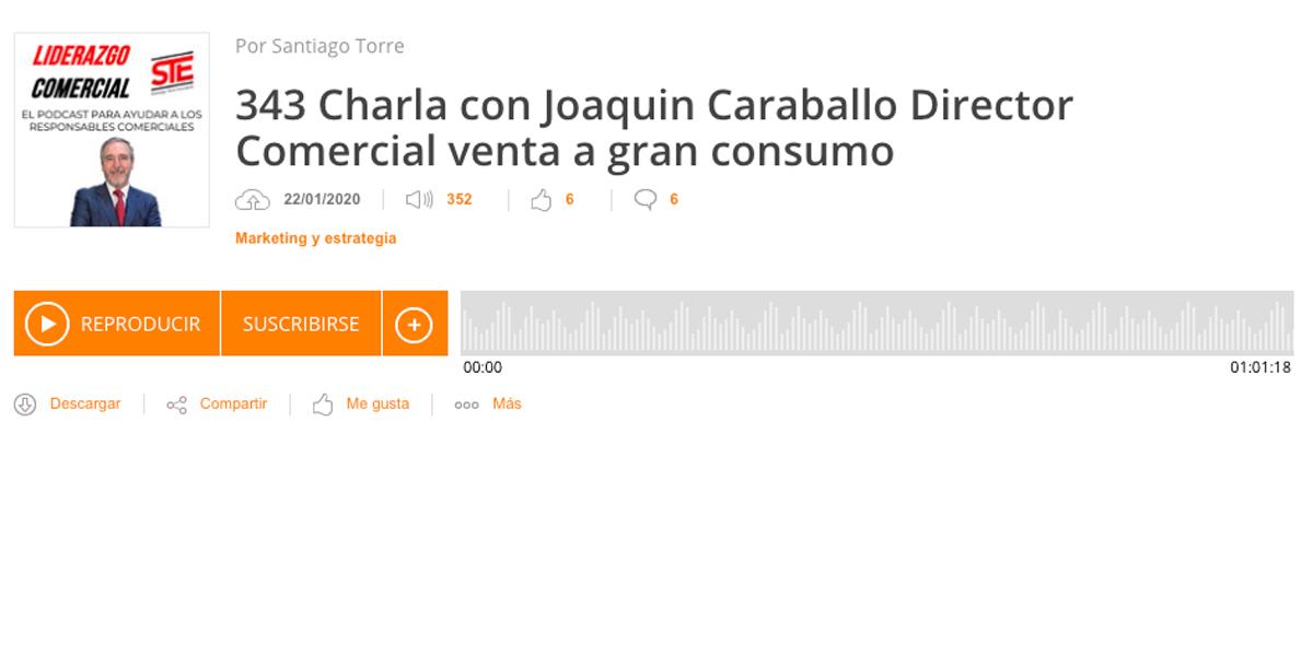Charla con Joaquín Caraballo Director Comercial venta a gran consumo